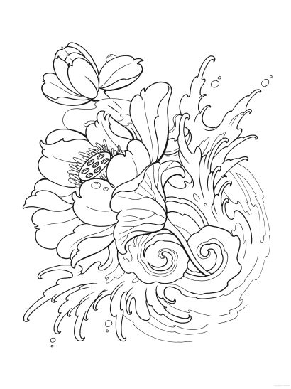 Creative Haven Modern Tattoo Designs Coloring Book (With