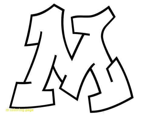 Unique Letter M Coloring Pages Collection