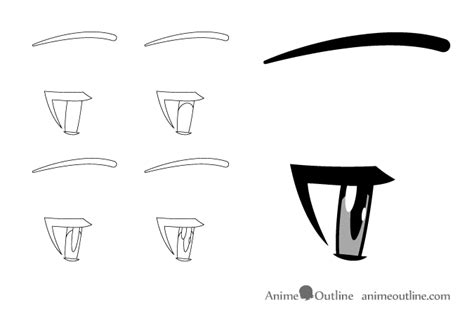 Anime Eyes From The Side How To Draw Anime Manga Eyes Side View Animeoutline