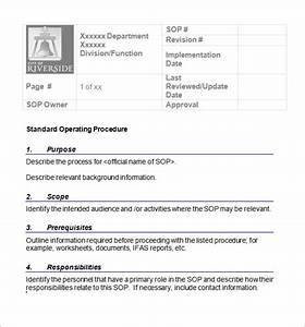 21 sample sop templates pdf doc sample templates With marketing sop template