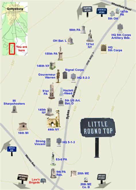 map    top   gettysburg battlefield