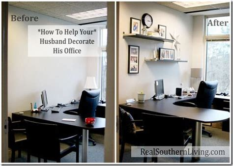 Small Business Decorating Ideas - help your husband decorate his boring small office