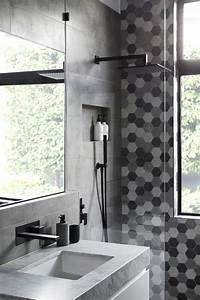 Grey black white bathroom 28 images black and white for Black and white modern bathroom