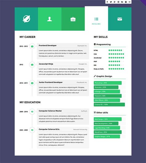 interactive resume template jospar