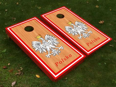 polska poland falcon cornhole boards  cornholetherapy