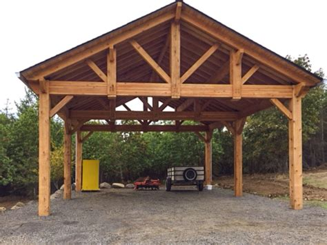 Timber Car Ports by Building An Easy Diy Rv Cover Western Timber Frame