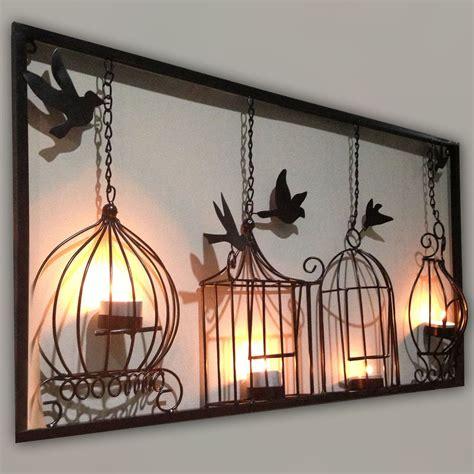 Cheap Outdoor Kitchen Ideas - wall art design ideas birdcage tea wall art 3d metal decor light decorations candle holder