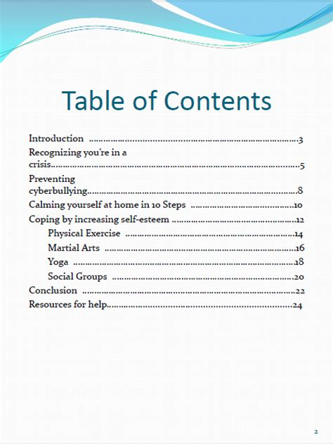 what is a table of contents activist writing andrew lee 39 s professional writing portfolio