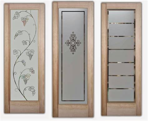 etched glass doors  interior beauty custom  glass