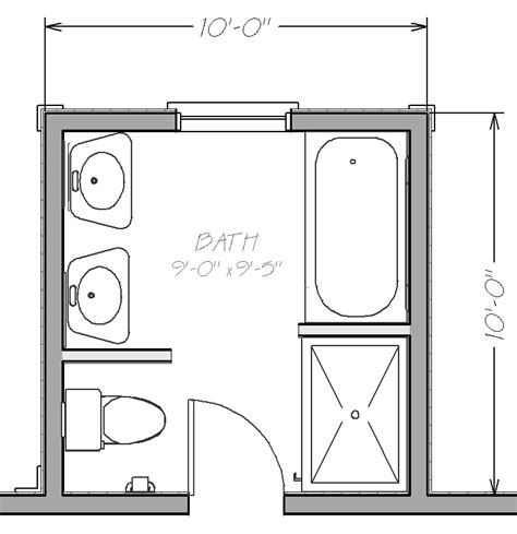 floor plans for small bathrooms small bathroom floor plans with both tub and shower