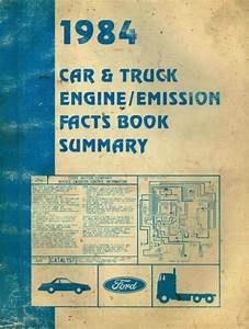 1984 Ford Car  Truck Engine  Emission Manual Guide Book