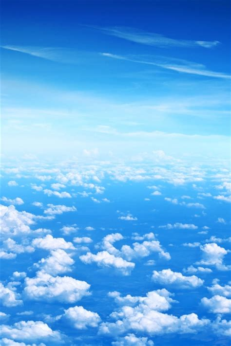 Blue sky, white clouds iPhone X 8,7,6,5,4,3GS wallpaper ...