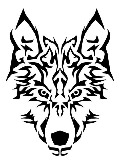 OnlineLabels Clip Art - Tribal Wolf Symmetric