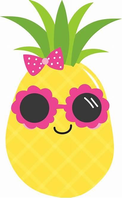 Pineapple Clipart Clip Luau Cool Transparent Sunglasses