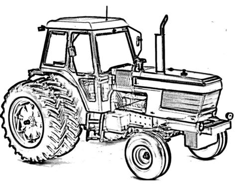 Ford Kleurplaat by Tractor Ford Tw15 Coloring Page Construction Color Pages