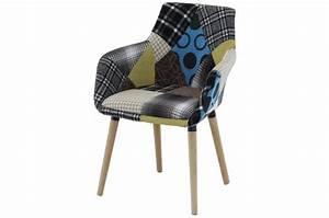Fauteuil Scandinave Patchwork : fauteuil scandinave patchwork rikel fauteuil design pas cher ~ Teatrodelosmanantiales.com Idées de Décoration
