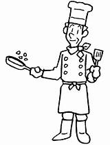 Coloring Chef Pages Easily sketch template