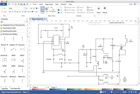 circuit diagram visio alternative for mac windows and linux
