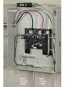 A Box Sub Panel Wiring : installing an electrical subpanel better homes gardens ~ A.2002-acura-tl-radio.info Haus und Dekorationen