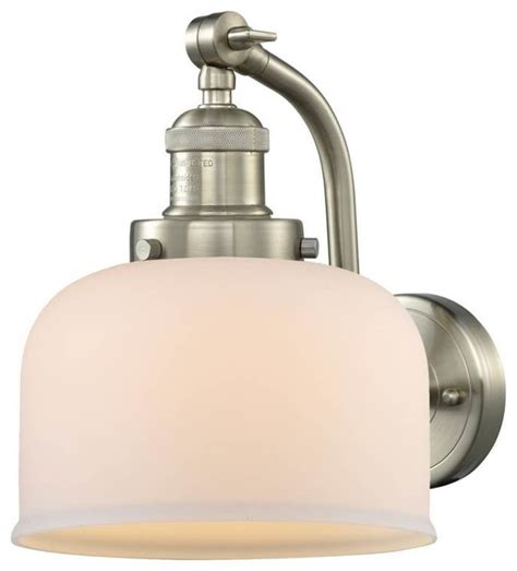 1 light large bell 8 quot sconce industrial swing arm wall ls by plfixtures