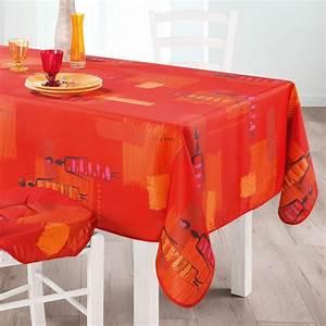 Nappe Table Rectangulaire : nappe rectangulaire l240 cm jaya orange nappe de table ~ Teatrodelosmanantiales.com Idées de Décoration