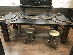 Buy, A, Hand, Crafted, Custom, Wood, And, Metal, Conference, Table, Made, To, Order, From, Agf, Custom, Metal