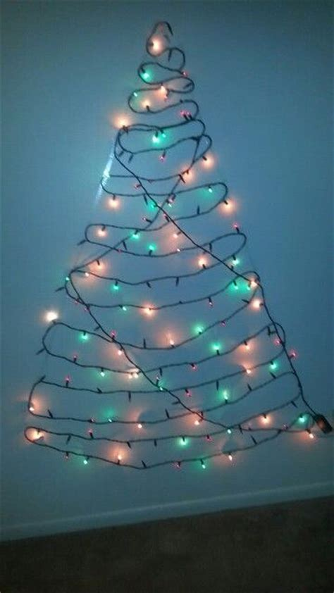 make tree of lights make your own tree with lights dbl sided n a wall on a budget