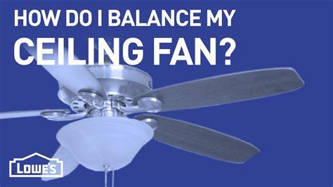 Ceiling Fan Balance Procedure Www Energywarden Net