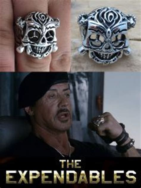 barney ross  expendables skull ring google search