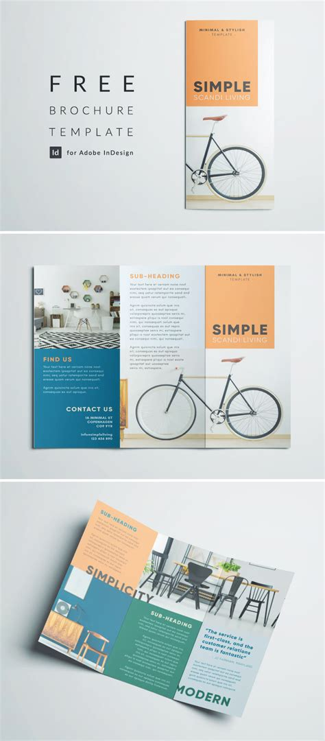 Free Tri Fold Brochure Template Indesign by Simple Tri Fold Brochure Free Indesign Template
