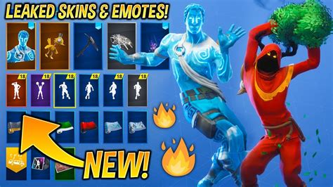 leaked fortnite skins emotes christmas raven