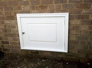 Crawl space doors curb appeal products for Exterior crawl space access door