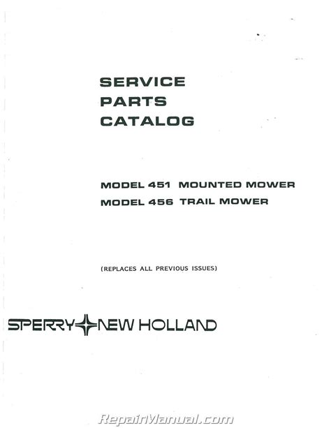 ford  holland  sickle mower parts manual