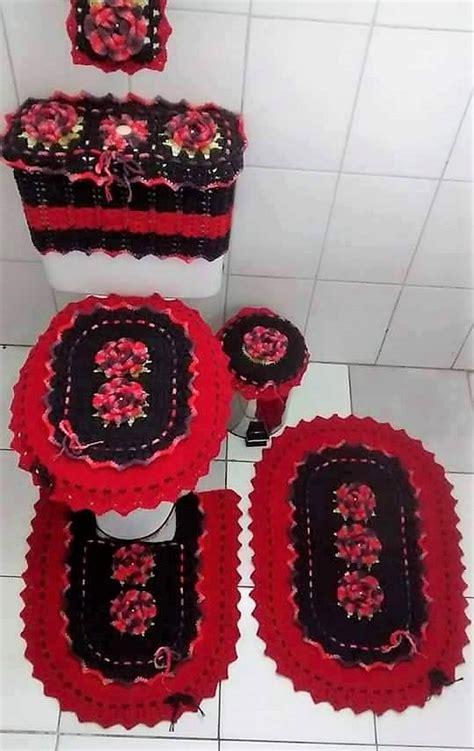 crocheted bathroom set ideas  crochet lovers diy motive