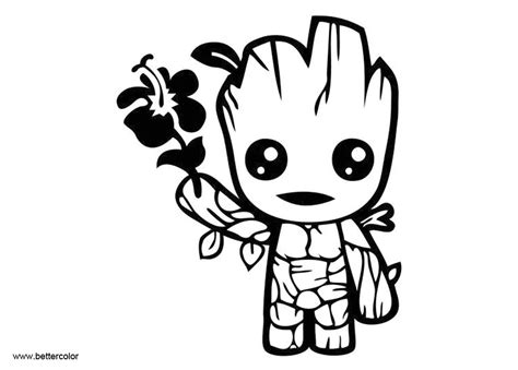 baby groot coloring page arenda stroy