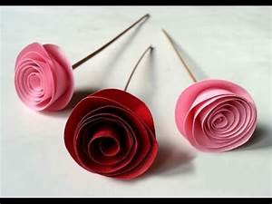DIY Easy Rolled Paper Roses for Mothers Day, Birthday Gift