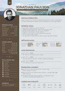 free professional modern resume cv portfolio page With free modern resume templates