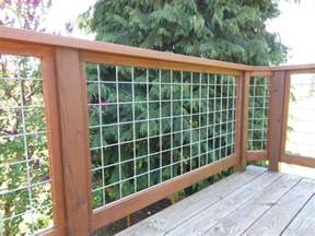 Home Depot Treated Deck Boards by Hog Wire Deck Railing Home Ideas Pinterest