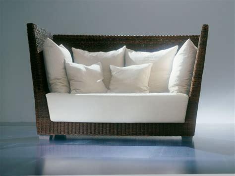 canape dossier haut canapé 2 places avec dossier haut en black pulut tressé