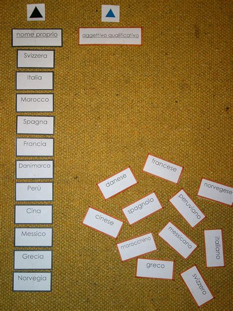 nomi derivati da porta psicogrammatica montessori aggettivi derivati da nomi