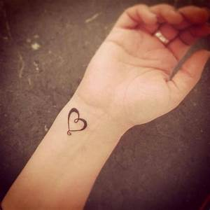 Simple heart tattoo on wrist. | Tattoos | Pinterest