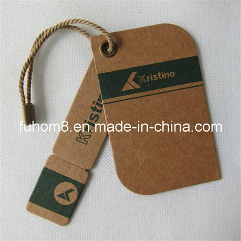 China Customized Various Garment Paper Hang Tag with