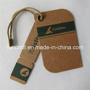 china customized various garment paper hang tag with With how to make hang tags