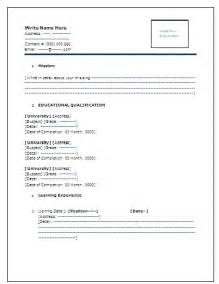 cv format for freshers in ms word 9 fresher teacher resume format in word invoice template download