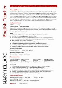 english teacher resume template cv examples teaching With english cv template