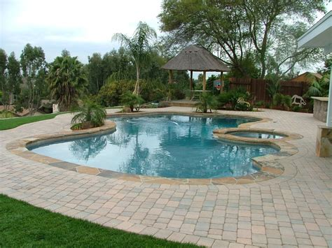backyard makeover with pool backyard makeover swimming pool spa resurface new decking palapa structure and bbq ready