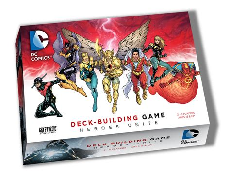dc comics deck building heroes unite cryptozoic entertainment