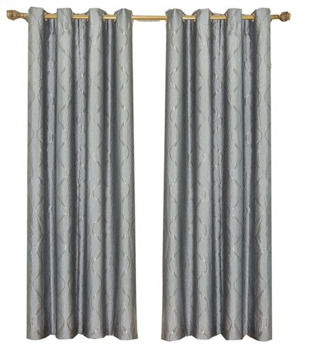 laguna set of 2 100 polyester jacquard grommet curtains