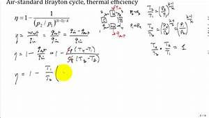 Derive Brayton Cycle Thermal Efficiency2