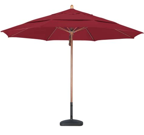shade usa 11 foot sunbrella aa wood patio umbrella